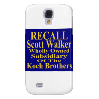 Recall Governor Scott Walker Corporate Minion Samsung Galaxy S4 Case