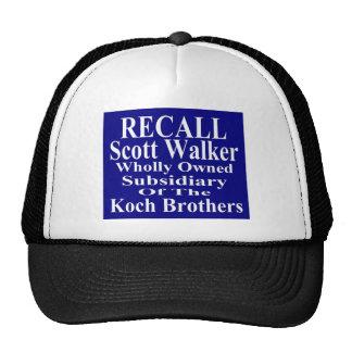 Recall Governor Scott Walker Corporate Minion Trucker Hat