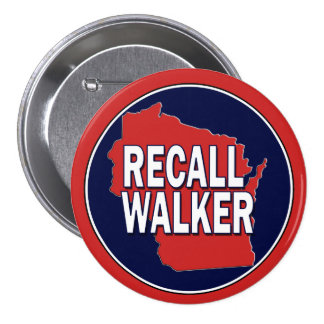 Recall Governor Scott Walker Pinback Button