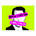 Recall Governor Scott Walker Post Cards