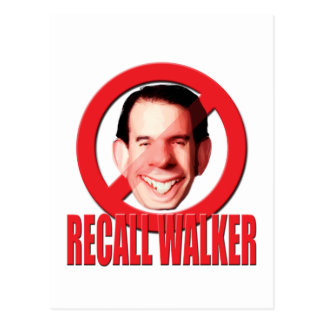 Recall Governor Scott Walker Postcard