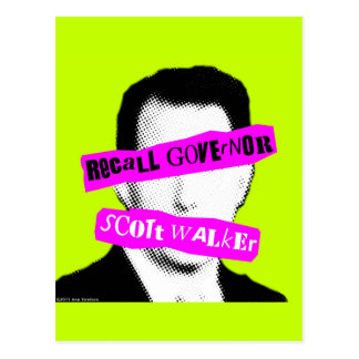 Recall Governor Scott Walker Postcard