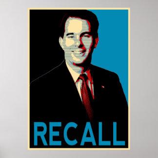 Recall Governor Scott Walker Poster