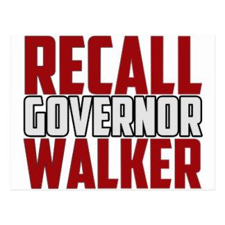 Recall Governor Walker Postcard