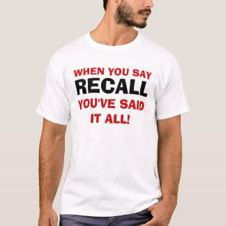 Recall Governor Walker T-shirt