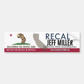 Recall Jeff Miller Bumper Sticker Car Bumper Sticker