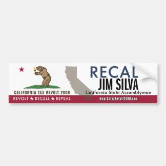 Recall Jim Silva Bumper Sticker Car Bumper Sticker