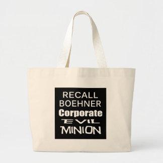 Recall John Boehner Koch Oil's Lap Dog Jumbo Tote Bag