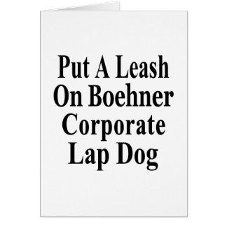 Recall John Boehner Koch Oil's Lap Dog Card
