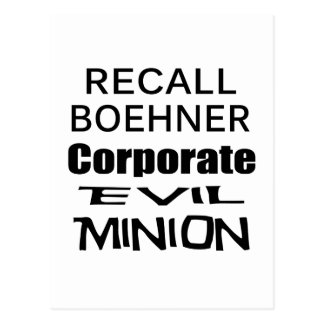 Recall John Boehner Koch Oil's Lap Dog Postcard