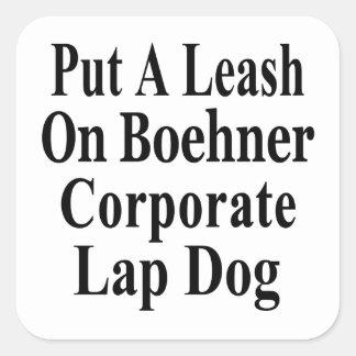 Recall John Boehner Koch Oil's Lap Dog Square Sticker