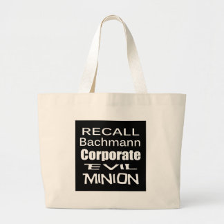 Recall Michele Bachmann Corporate Evil Minion Large Tote Bag