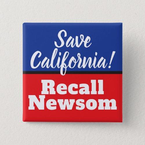 Recall Newsom Save California Button