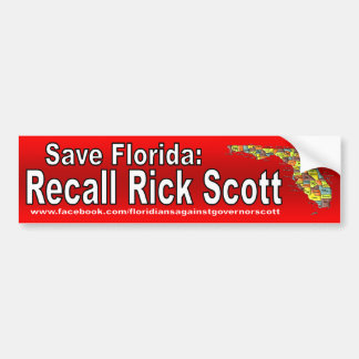 Recall Rick Scott Bumper Sticker
