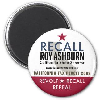 Recall Roy Ashburn Magnet