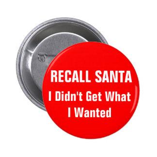 Recall Santa Buttons