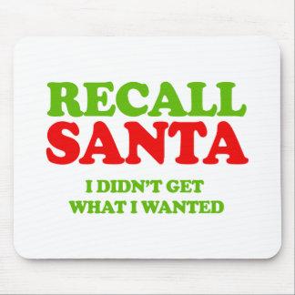 Recall Santa -- Holiday Humor Mouse Pad