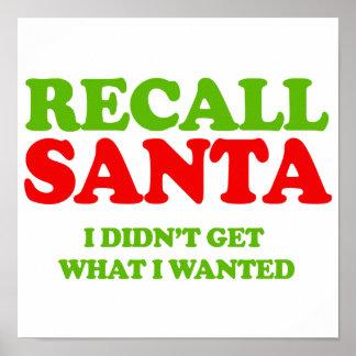 Recall Santa -- Holiday Humor Print