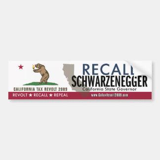 Recall Schwarzenegger Bumper Sticker Car Bumper Sticker