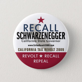 Recall Schwarzenegger Button