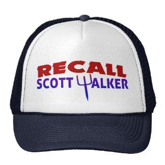 Recall Scott Walker Trucker Hats