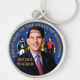 Recall Scott Walker Keychain