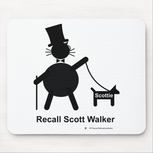 Recall Scott Walker Mouse Pad