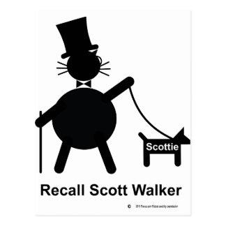 Recall Scott Walker Postcard
