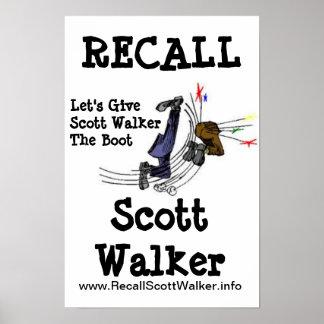 Recall Scott Walker Protest Poster