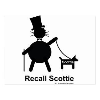 Recall Scottie Postcard