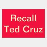 Recall Ted Cruz sign
