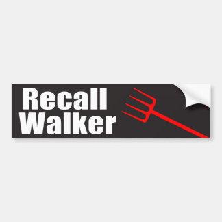 Recall Walker Car Bumper Sticker
