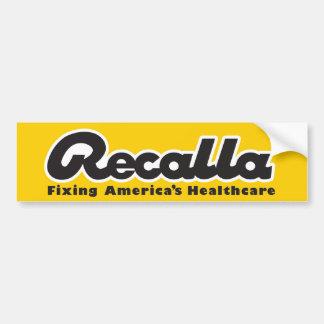 Recalla Bumper sticker