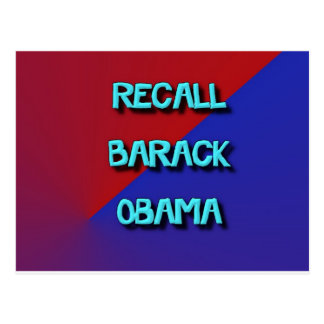 RecallBarack-2 Postcard