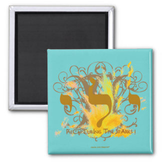 RECAPTURING SPARKS ~ TURQUOISE 2 INCH SQUARE MAGNET