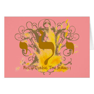 RECAPTURING THE SPARKS ~ PINK GREETING CARD