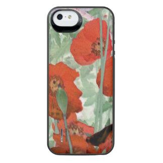 recarga de la batería de la amapola para el iPhone Funda Power Gallery™ Para iPhone 5 De Uncommon