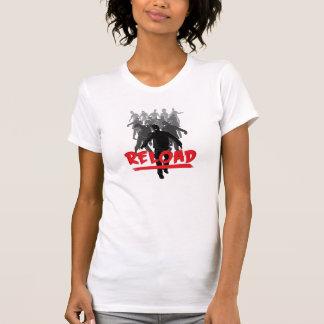 Recarga de la horda del zombi - camisa de las muje
