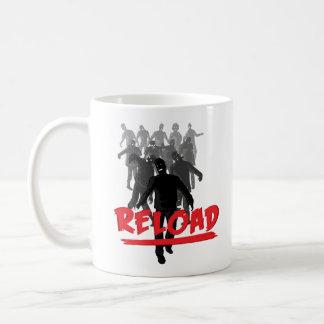 Recarga de la horda del zombi taza
