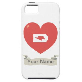 Recarga del corazón funda para iPhone 5 tough