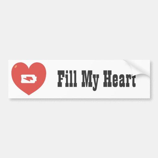 Recarga del corazón pegatina de parachoque