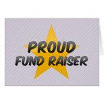 Recaudador de fondos orgullosa tarjeta