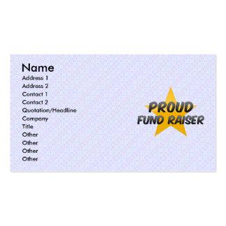 Recaudador de fondos orgullosa plantillas de tarjetas de visita