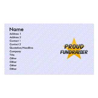 Recaudador de fondos orgullosa tarjetas de visita