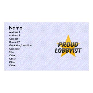 Recaudador de fondos orgullosa tarjetas de negocios
