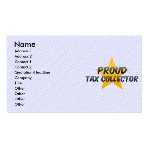 Recaudador de impuestos orgulloso tarjetas de visita