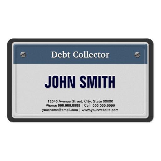 Recaudador - placa fresca del coche tarjetas de visita