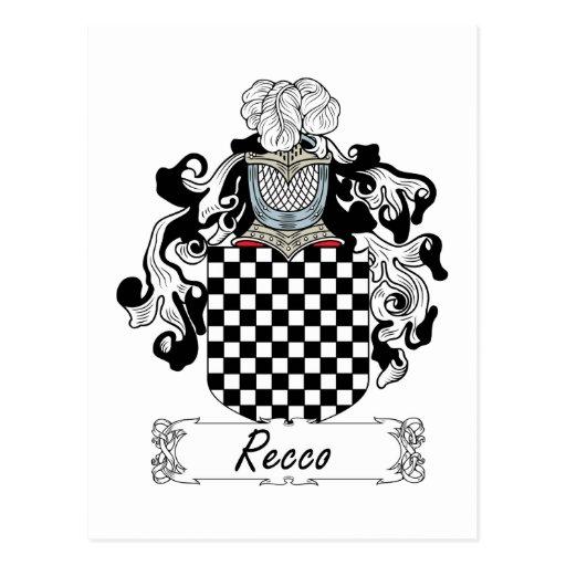 Recco Family Crest Post Card