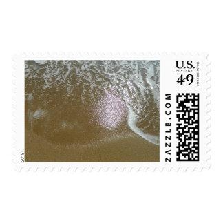 Receding Ocean Water Postage Stamp