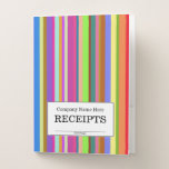 "[ Thumbnail: ""Receipts"" + Stripes of Various Colors Pocket Folder ]"